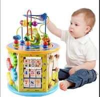 Montessori wczesna nauka edukacja zabawki prezent z drewna dla dzieci kolor poznania puzzle matematyczne zabawki dla dziecka
