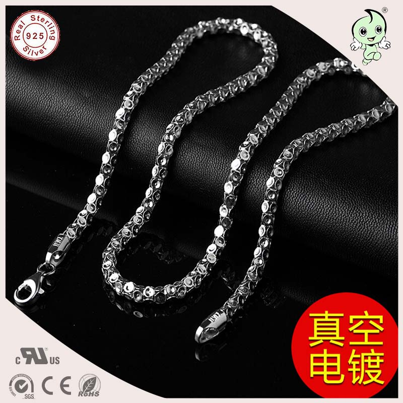 цена на Good Quality Popular Cool Casual 50CM Length 925 Sterling Silver Thicker Man Lattern Necklace Chain