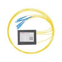 1 4 Optical Fiber Splitter 1 4 FTTH Fiber Splitter Cable Branching Device Single Mode SC