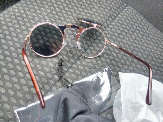 AOFLY Vintage Steampunk. Стильные мужские и женские солнцезащитные очки унисекс, в стиль ретро-панк, в круглом дизайне, в  металлической оправе и зеркальными линзами, 100% защита от УФ лучей