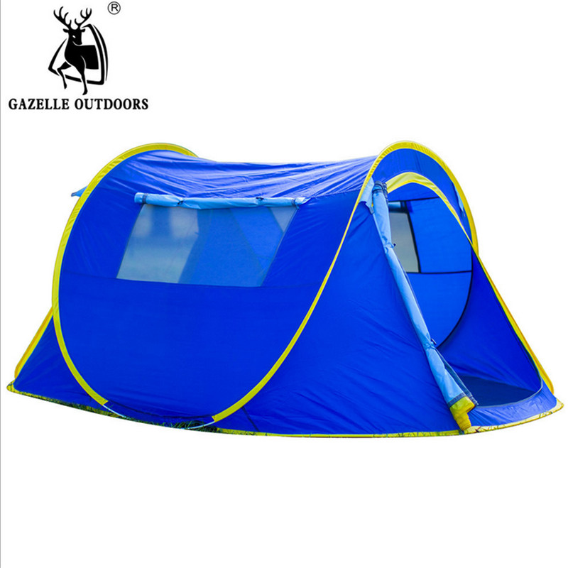 Waterproof Beach Camping Tent Throw Tent Outdoor 1-2 Persons Automatic Mountain Tent round shape print beach throw