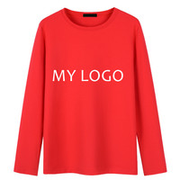 Professional Custom Personal Tailor T Shirt Make Your Text Or Logo Printing Men Long Sleeve O