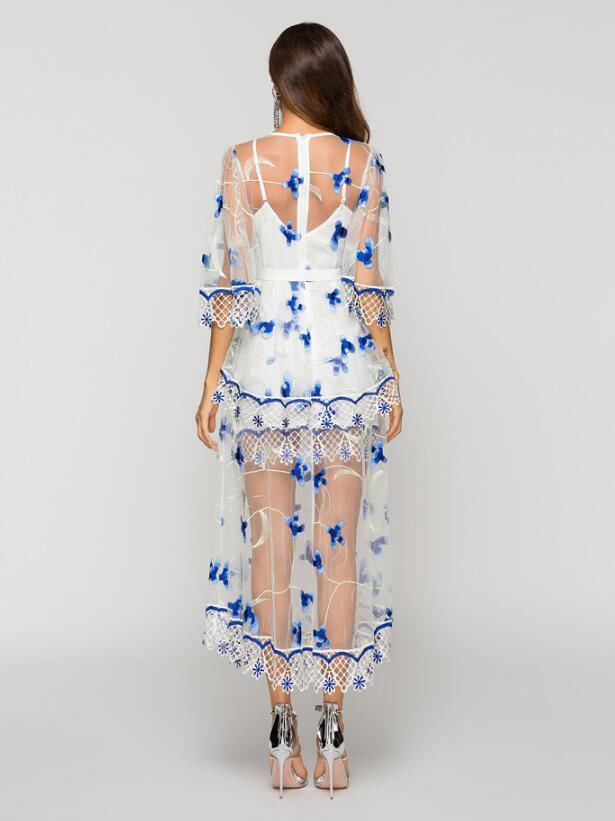 2018 D'été blanc Noël Streetwear Manches Robes Robe Femmes Demi De Féminine Maille Broder Partie O Sp Sexy Noir Cou 75 6AHw1Zxq