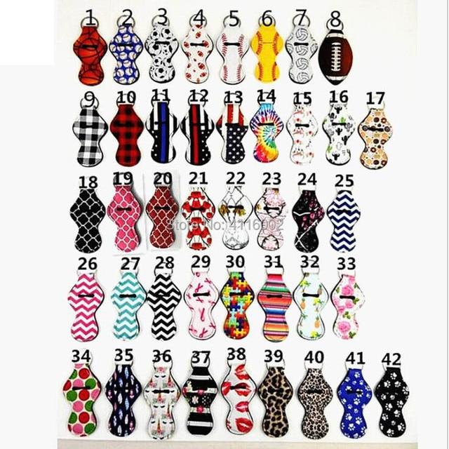 HEDGEHOG Print CHAP STICK Key Chain Chapstick Holder Lip Gloss Key Chain Holder