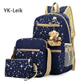YK-Leik Brand School Bag Printing Backpack With Bear Children School Bags For Girl Cute Backpacks For Teenagers Mochila Feminina