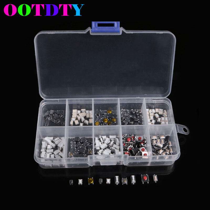 250Pcs Tactile Push Button Touch Switch Remote Keys Microswitch