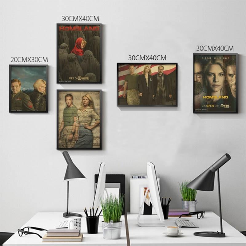 Pátria Filme Seires Retro Cartaz Parede Cartaz Cartazes Modernos Quarto Home  Living Room Decor