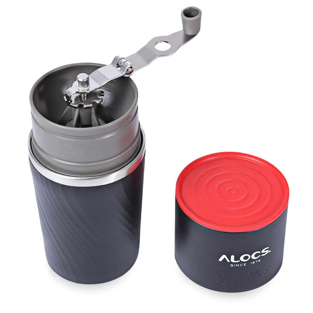 ALOCS multifunction outdoor cup brewed coffee mug grinding machine alumina camping coffee cups portable Outdoor sports use stylish 3d animals adventure painting ceramic mug elephant shaped handle coffee cups