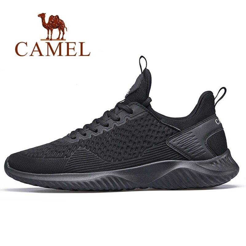 De los hombres del camello zapatos ligero blanco cómodo de los hombres zapatillas de deporte de los hombres transpirables Zapatos de deporte para deportes al aire libre