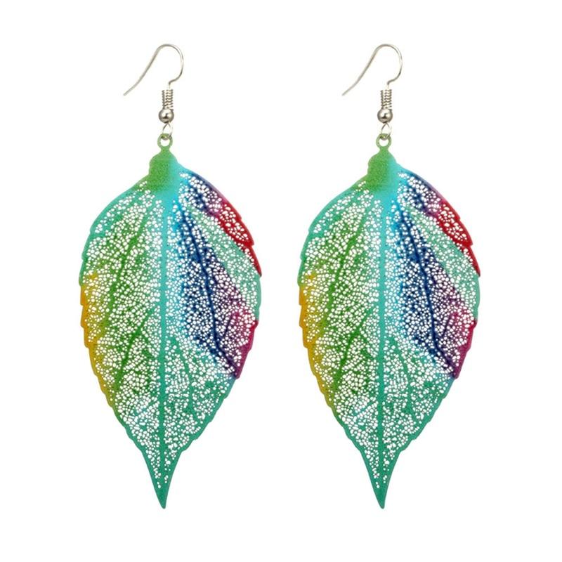 2019 Fashion Bohemian Lange Oorbellen Unieke Natuurlijke Real Leaf Grote Oorbellen Voor Vrouwen Sieraden Gift Oorbellen Pendientes Mujer Mod Gebruiksgoederen