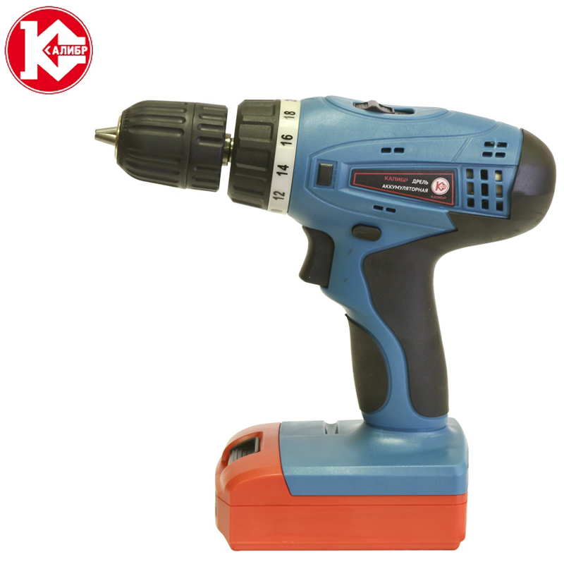 Kalibr DA-518/2+ Electric Screwdriver Battery Screwdriver Wireless Drill Power Tools Electric Torque Screwdriver + 2 Batteries 4 0 v rechargeable battery cordless driver electric hand drill bitshole electrical screwdriver saw wrench power tool part set eu