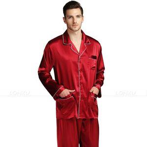 Image 4 - رجل الحرير بيجامة من الساتان مجموعة بيجامة بيجامة مجموعة ملابس النوم لونجوير S ، M ، L ، XL ، XXL ، XXXL ، 4XL حجم كبير _ كبيرة وطويلة القامة