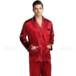 Image 4 - Mens Silk  Satin Pajamas Set  Pajama Pyjamas Set  Sleepwear  Loungewear  S,M,L,XL,XXL,XXXL,4XL Plus Size__Big and tall
