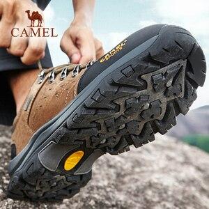 Image 3 - Deve erkekler kadınlar yürüyüş ayakkabıları inek deri üst 2019 sonbahar dayanıklı Anti kayma sıcak açık dağ tırmanışı Trekking ayakkabıları