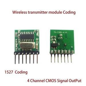 Image 2 - 5 pieces 433 Mhz Superheterodyne RF wireless transmitter module 1527 Encoding EV1527 Code wide voltage 3V 24V For Remote control