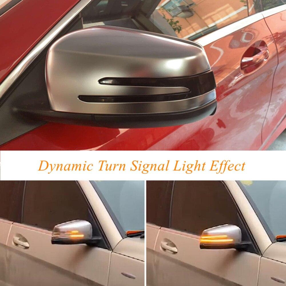 Pour Mercedes Benz A B C E S CLA GLA GLK CLS classe W176 W204 W212 LED clignotant dynamique clignotant rétroviseur latéral
