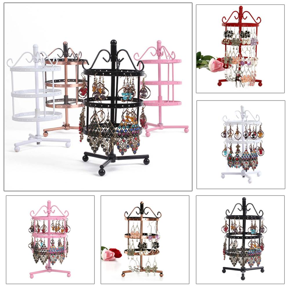 Jewelry Display Stand Holder Earring Display Stand Jewelry Display Rack Storage Stand Metal Rotating Display Stand Holder