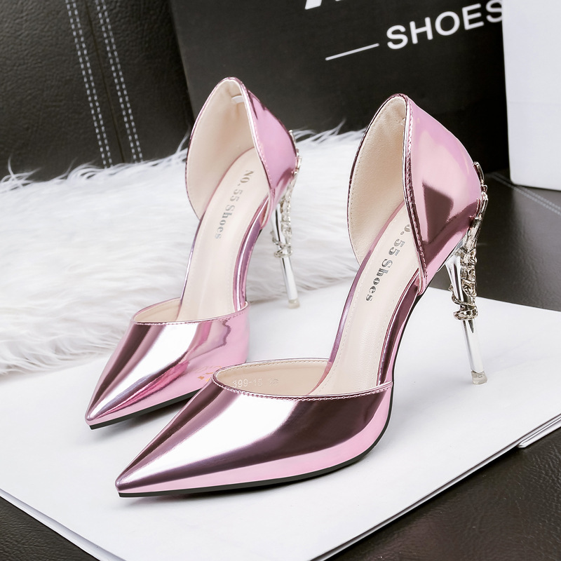or Noir Mode Nouvelle Occasionnels Été Sauvage Coréennes Sandales rose gris Chaussures Talons argent Haute De Femmes qPpwXS7