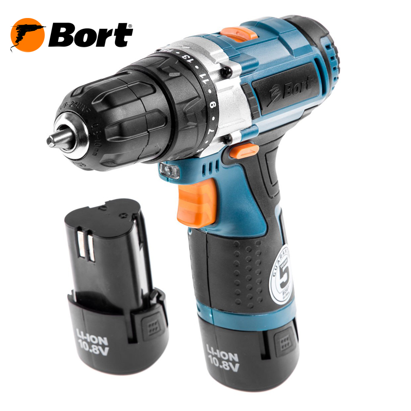 10V 12V Bort Li-Ion Lithium Battery Electric Drill Cordless Screwdriver Mini Drill Cordless Screwdriver Power Tools Cordless Drill BAB-10,8Nx2Li-FDK li ion battery electric cordless screwdriver set led light indicator and multi bits sockets