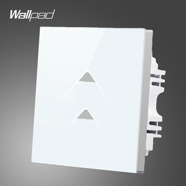 Smart Walls Wallpad 110-250V 86*86mm 2 Gang 2 Way Luxury White Glass Waterproof LED Touch Control Light Switch,Free Shipping free shipping wallpad luxury wall switch panel doorbell switch x6 series 10a 86 86mm 110 250v