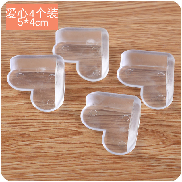 Love 4 pack transparent baby safety anti collision sleeve thickened ...