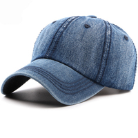 HT1529 Denim Men Women Baseball Cap Spring Summer Sun Caps For Men Women Washed Cotton Bones