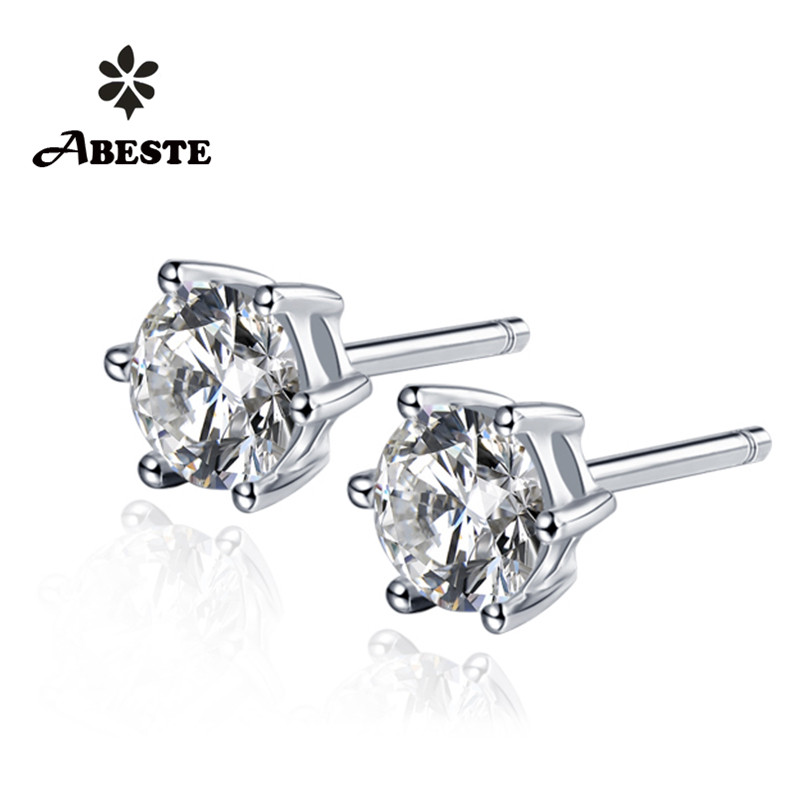 ANI 18K Gold Fashion Earring Women Engagement Stud Earrings 0.3 CT Certified I/SI Natural Diamond Jewelry Gold Earrings aretes