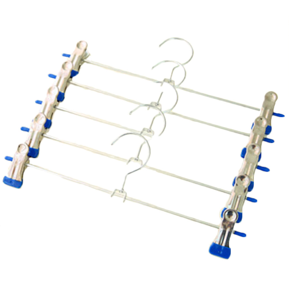1pc Stainless Steel Hangers For Clothes Pants Wire Antiskid Drying Clothes Rack Adult And Children Hanger