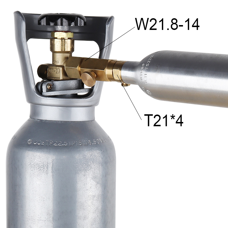 CO2 Refill Soda Bottle Adapter Soda Inflatable Valve Converter For W21 8 14 Interface in Other Bar Accessories from Home Garden