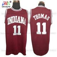 2017 Men Dwayne Cheap Throwback Basketball Jersey Isiah Thomas 11 1981 Indiana Hoosiers College Jersey Retro