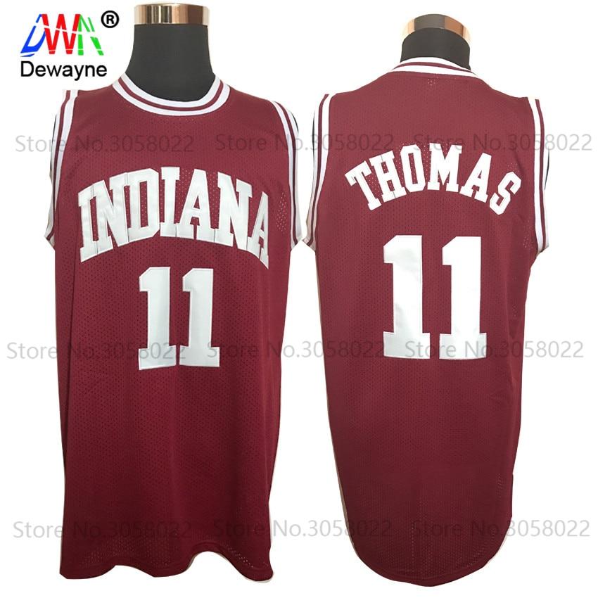 Prix pour 2017 Hommes Dwayne Pas Cher Régression de Basket-Ball Jersey Isiah Thomas #11 1981 Indiana Hoosiers Collège Jersey Rétro Vintage Chemises