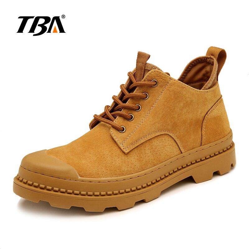 TBA 3806 Casual Shoes Men s Martin boots Business shoes Camel Black Shoes size 38 44