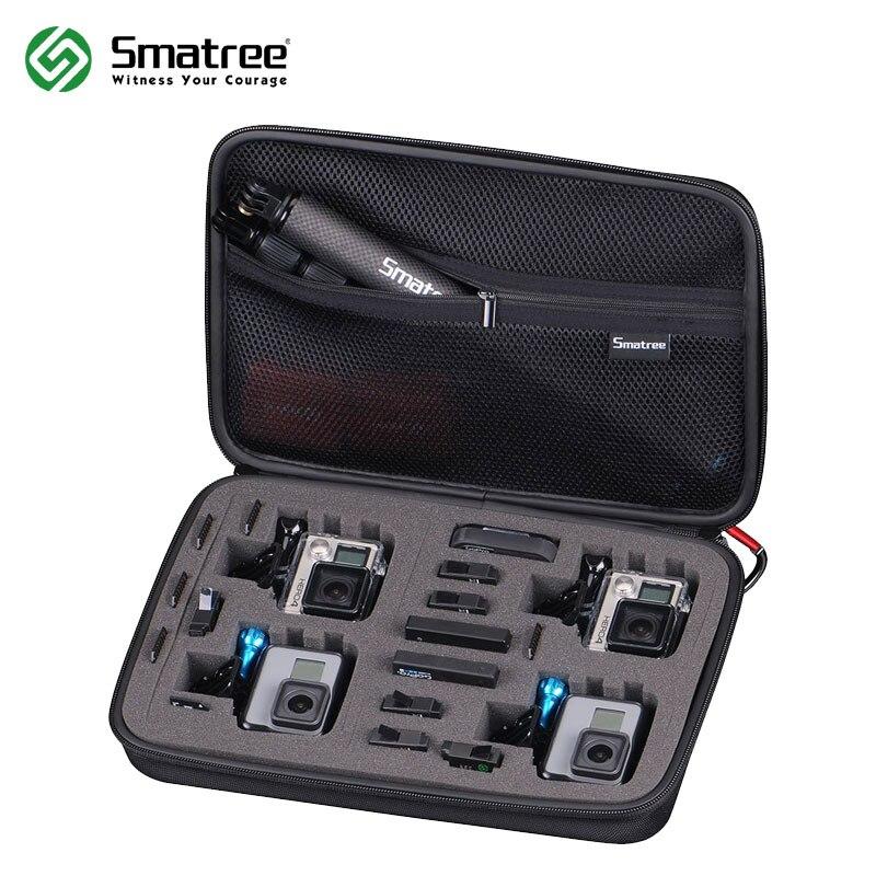 Smatree G360 Grande Taille Étui de Transport pour Gopro Hero 6/5/4/3 +/3/2/SJCAM sj4000 (Caméra et Accessoires NE sont PAS inclus)