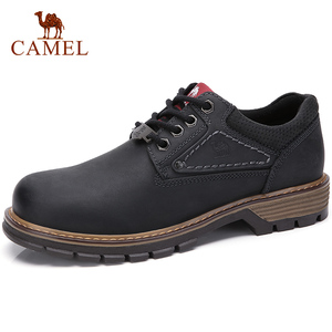 Image 1 - CAMEL Men Tooling Shoes Autumn Geunine Leather Martin Shoes Mens Trend Fashion Outdoor Casual Mens Shoes