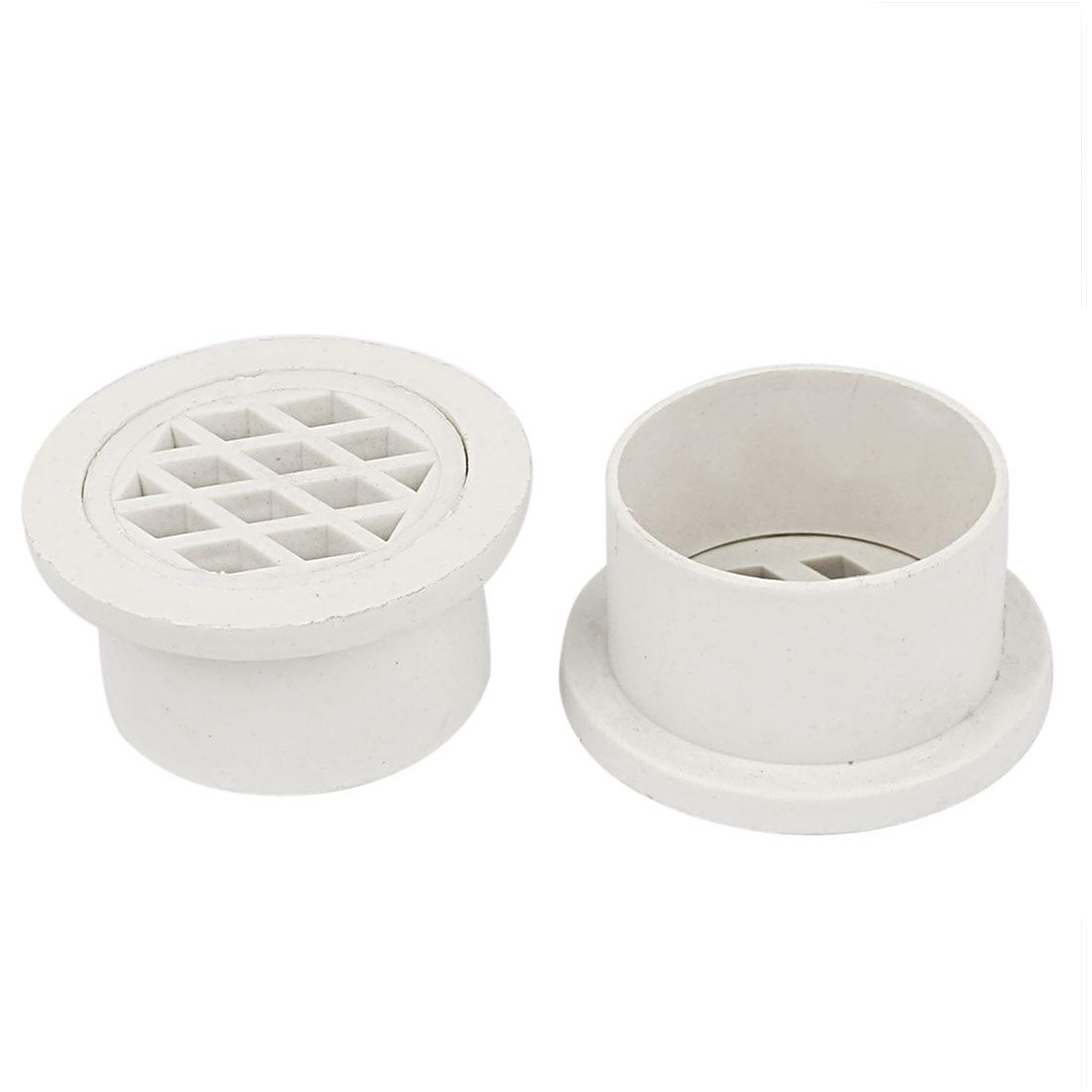 UXCELL Basement Toilet White Pvc Round Strainer Floor Drain Cover 2Pcs  White(China (Mainland