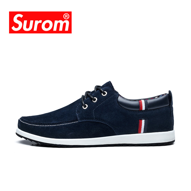 SUROM Sneakers Leisure Skateboarding Shoes For Mens 2018 Summer Lace Up Breathable Light ...