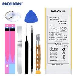 원래 NOHON 배터리 애플 아이폰 6 플러스 6 플러스 3250 미리암페르하우어 최대 용량 전화 교체 리튬 폴리머 배터리 무료 도구