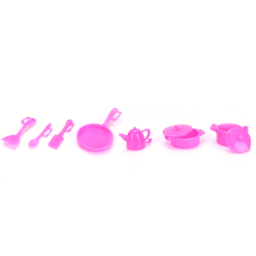 Random 98Pcs Children Play House Game Toy for Doll Mini Life Tools Early Education Toy as Girl Christmas Gift