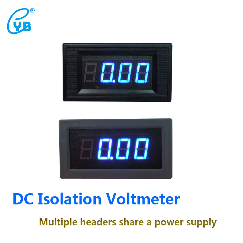 YB5135AI DC Isolated Voltmeter Three and A Half Voltmeter Tester LED Digital Display Voltmeter ICL 7107 DC Voltage Meters Blue