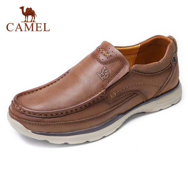 CAMEL (High) 저 (Quqlity Men Shoes 가 Genuine Leather England Trend 남성 신발쏙 ~ Set 발 Men's Casual Shoes Herenschoenen