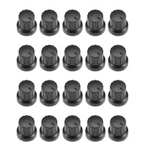 UXCELL 20Pcs 6mm Insert Shaft 15.3x15.5mm Plastic Potentiometer Rotary Knob Pots Black For Connect The Rotary Potentiometer стоимость