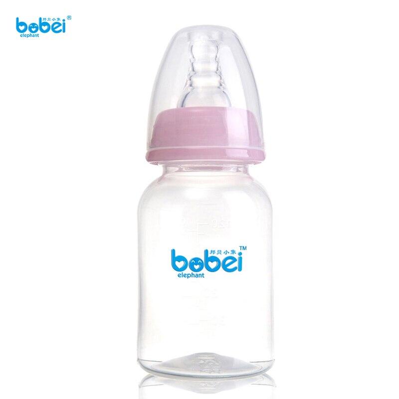120 мл Стандарт рот бутылку бутылки молока для 0-3 месяца ребенок кормления с PP прямой формы тела и пылезащитные крышки