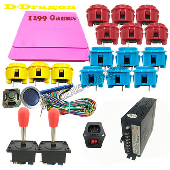 1299 in 1 video games arcade DIY kits support CGA/VGA/HDMI  with copy obsf-30 buttons PSU IEC socket zippy joystick speaker etc