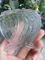 7cm Free shipping natural clear quartz angel wings white crystal wings as gift