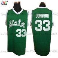 2017 Men Dwayne Cheap Throwback Basketball Jersey Magic Earvin Johnson 33 College Jerseys Retro Shirts Green