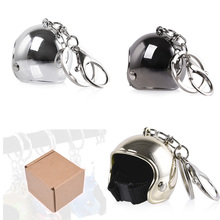Car Styling Motorcycle Safety Helmets Car Auto Gifts Keychain Pendant Classic Key Ring Creative Metal Keyfob Casque Holder Moto