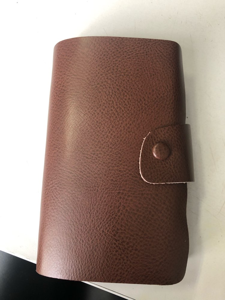 Genuine Leather Business Card Holder Hasp Purse Large Credit ID Holder Organizer Bag by 120 Cards Slots photo review
