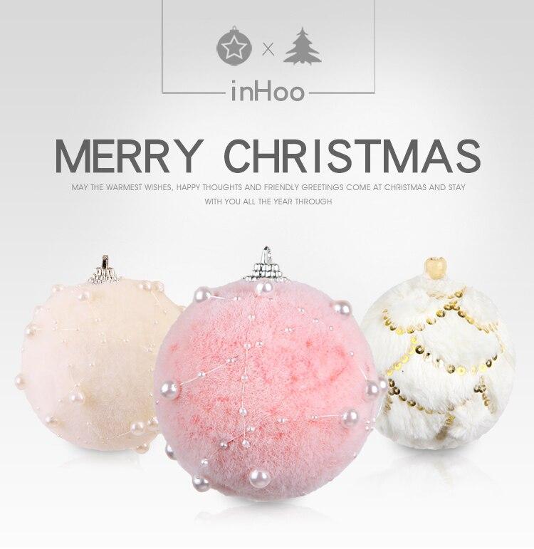 01 inhoo 78cm Merry Christmas Rhinestone Glitter Baubles Balls Christmas Tree Hanging Ornaments Decor foam balls Styrofoam Balls