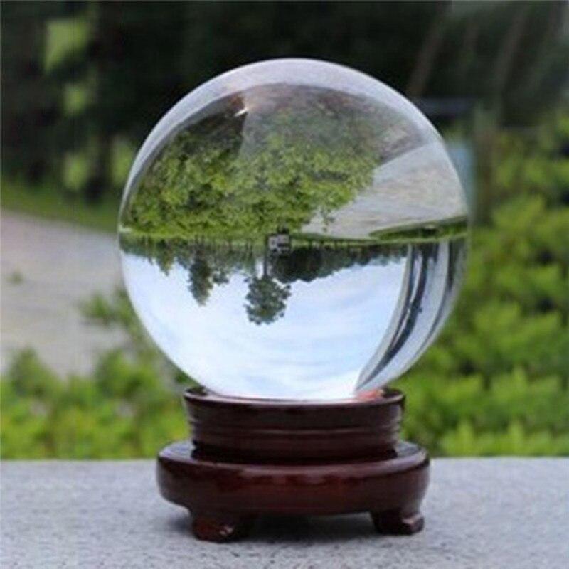 1pcs Pure Clear Magic Crystal Rhinestone Healing Ball Transparent Fairy Charming Sphere Home Desk Ornaments Decoration 80mm