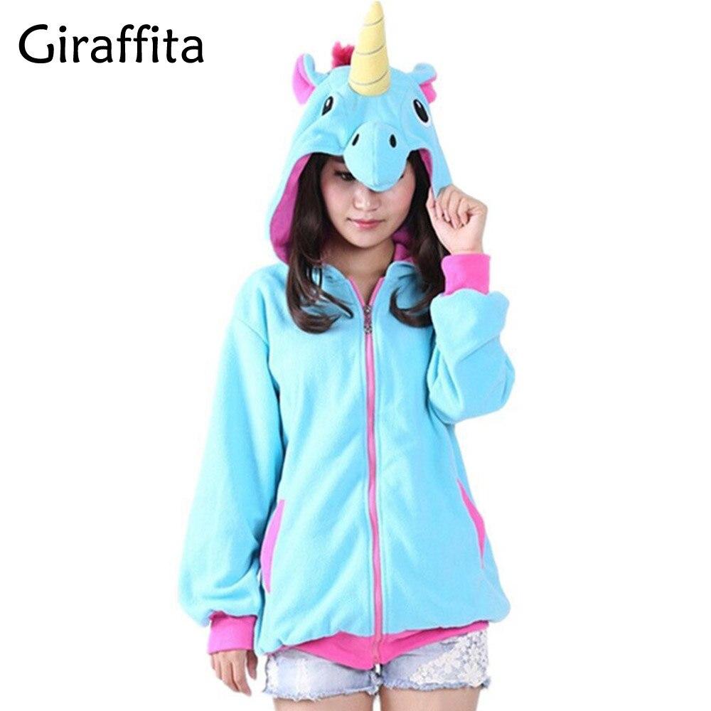 Giraffita New Women Novelty Hoodies Fashion Cartoon Sweatshirts Tracksuits Girl Winter Cute Jacket Christmas Halloween Gifts